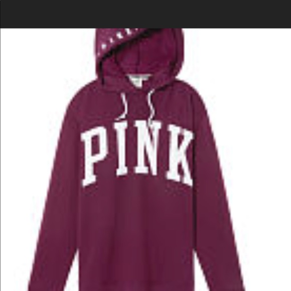 8123c8dc333 NIP VS PINK CAMPUS FUNNEL NECK HOODED SZ M RUBY. NWT. PINK Victoria s Secret